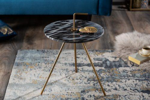 Marmurowy stolik SIMPLY CLEVER 36cm szary okrągły