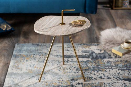 Marmurowy stolik SIMPLY CLEVER 42 cm biały