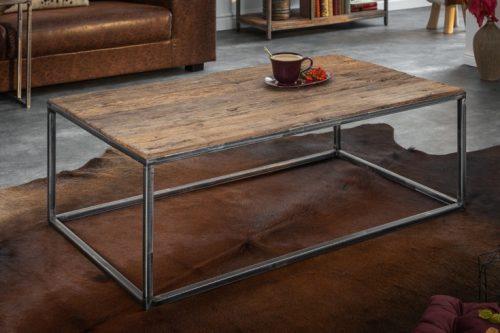Przemysłowy stolik kawowy BARRACUDA 110 cm