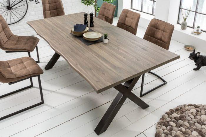 Stół GENESIS 160 cm lite drewno akacjowe styl przemysłowy