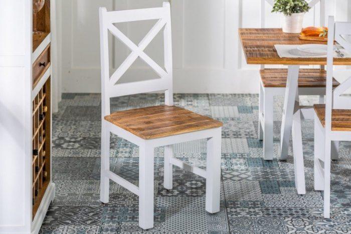 Eleganckie krzesło do jadalni LONG ISLAND wiejski styl