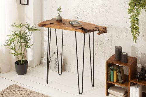 Ekskluzywny stolik z drewna tekowego WILD 95cm