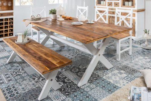 Elegancki stół do jadalni LONG ISLAND 160 cm z drewna mango