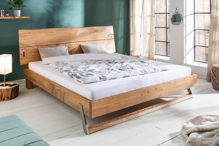 Łóżko z litej akcji MAMMUT 180×200 cm sypialnia naturalne