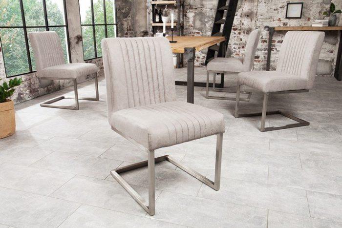 Nowoczesne krzesło wspornikowe BIG ASTON szare