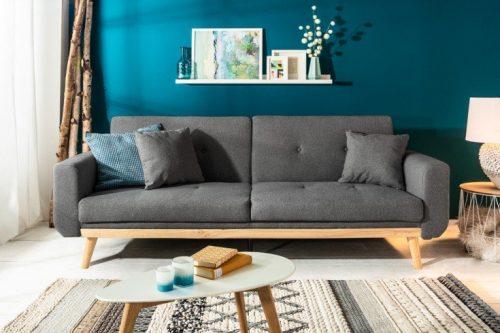Skandynawska rozkładana sofa SKAGEN 215cm antracyt funkcja spania
