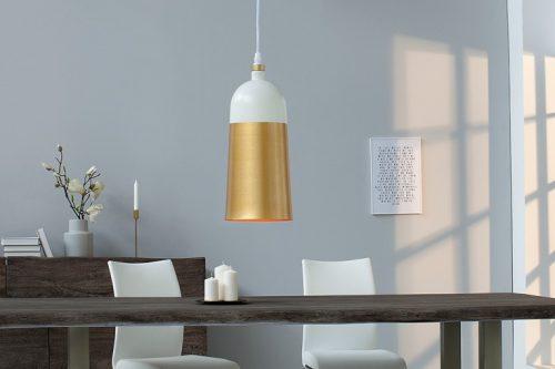 Elegancka wisząca lampa MODERN CHIC I 31cm biała