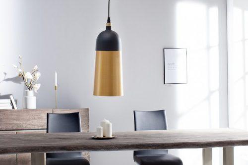 Elegancka wisząca lampa MODERN CHIC I 31cm czarna