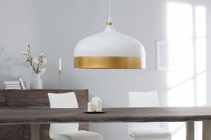 Elegancka lampa wisząca MODERN CHIC II 33 cm biała