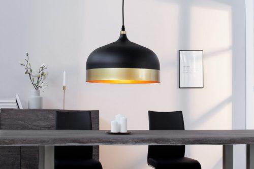 Elegancka lampa wisząca MODERN CHIC II 33 cm czarna