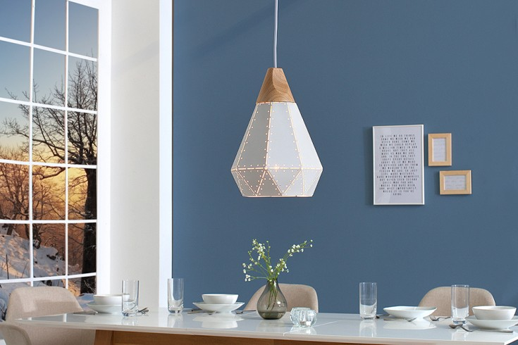 Nowoczesna lampa wisząca SCANDINAVIA I 29 cm biała styl skandynawski