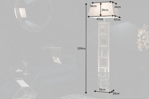 Ekstrawagancka lampa stojąca DIAMONDS ACHAT 159 cm z agatowymi kamieniami i kryształami