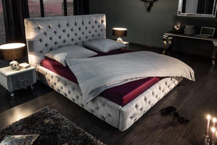 Eleganckie łoże PARIS 180x200cm szare