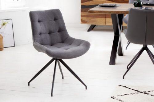 Krzesło designerskie DIVANI jasnoszare