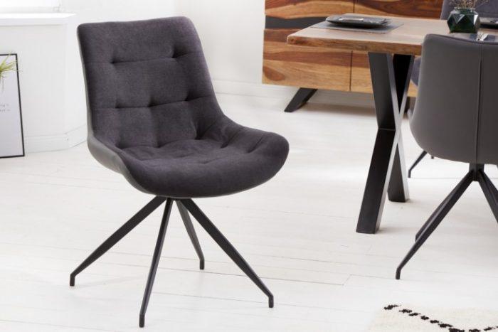 Krzesło tapicerowane DIVANI ciemnoszare