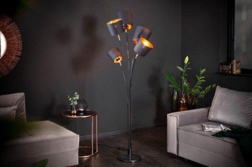 lampa podłogowa LEVELS 178 cm czarne złoto