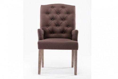 Pikowany fotel CHESTERFIELD brązowy