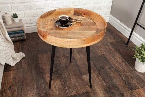Elegancki stolik PURE NATURE 47 cm drewno mango