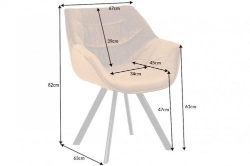 Krzesło retro DUTCH aksamit musztardowe