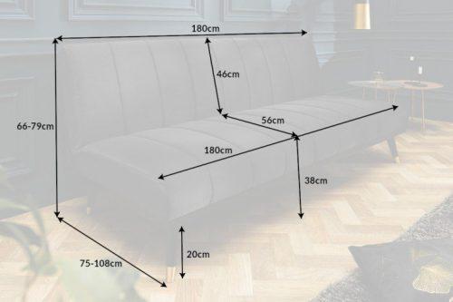 Elegancka 3-osobowa sofa PETIT BEAUTÉ 180 cm szara aksamit