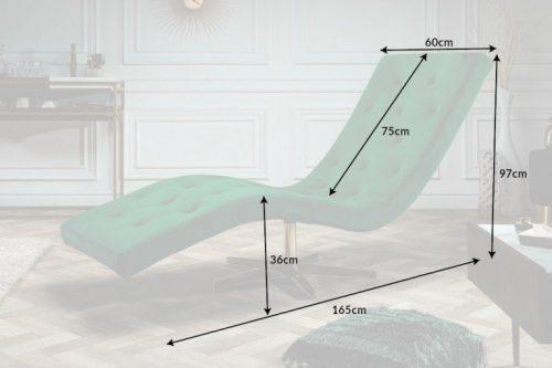 Nowoczesna leżanka szezlong tapicerowany Relaxo 165cm szmaragdowa zieleń