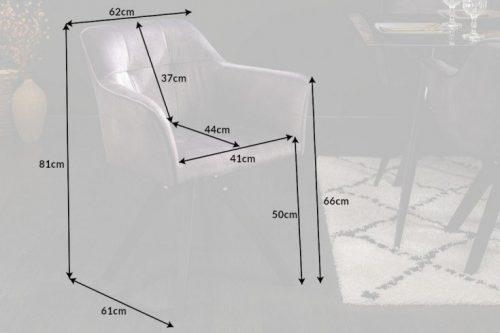 Obrotowe krzesło LOFT w ciemnoszare styl retro