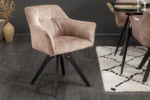 Obrotowe krzesło LOFT w jasnoróżowe styl retro
