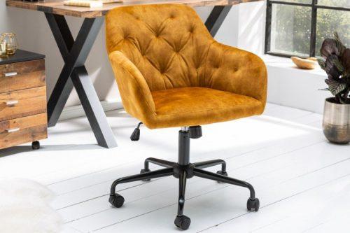 Krzesło biurowe DUTCH musztardowe