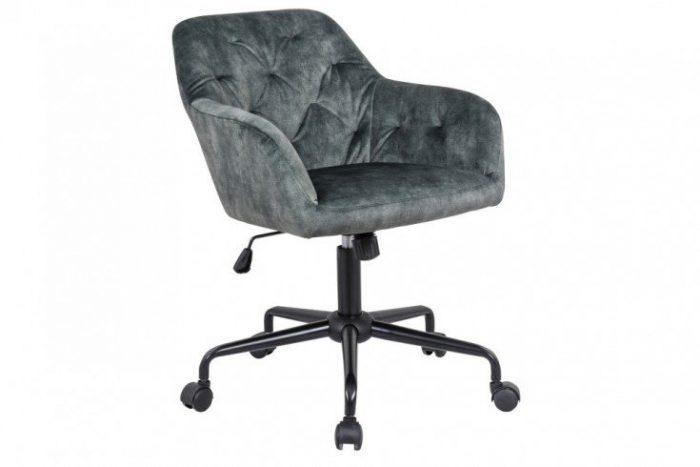 Krzesło biurowe z regulacją DUTCH eleganckie pikowania zielone