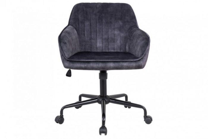 Obrotowe krzesło biurowe TURIN vintage regulacja wysokości ciemnoszare