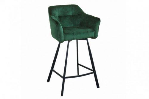 Retro krzesło barowe LOFT 100 cm butelkowa zieleń