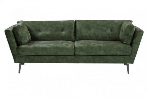 Elegancka sofa 3-osobowa MARVELOUS 220 cm aksamit ciemnazieleń