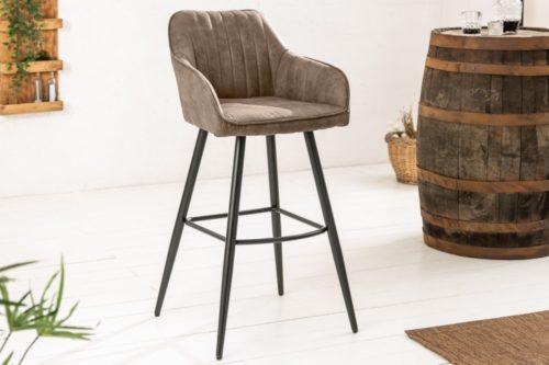 Elegancki stołek barowy / hoker TURIN mikrofibra