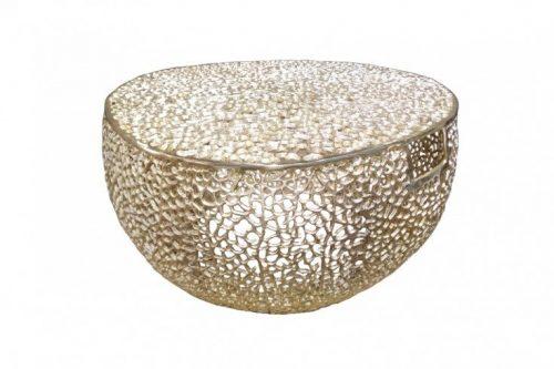 Stolik kawowy LEAF 80 cm złoty ręcznie robiony