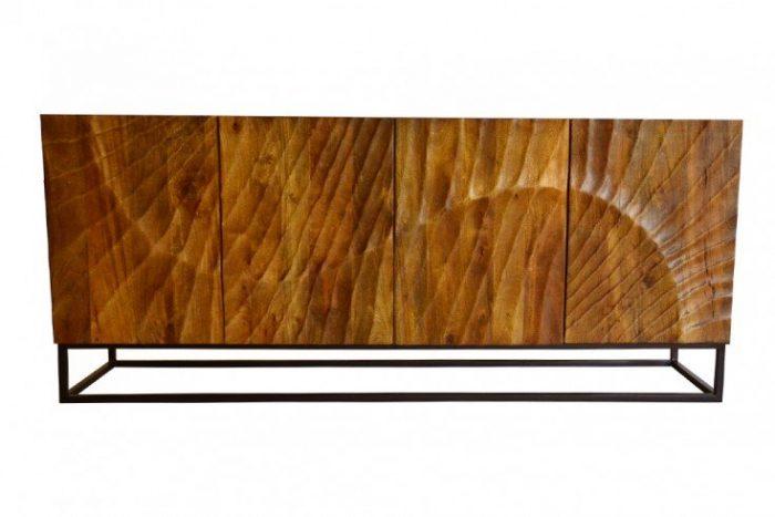 Solidny kredens SCORPION 177 cm drewno mango brązowa