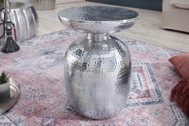 Stolik ORIENT 36cm ręcznie wykonany kolor srebrny