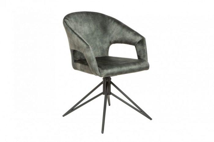 Krzesło ETERNITY  obrotowe retro ciemnozielony aksamit