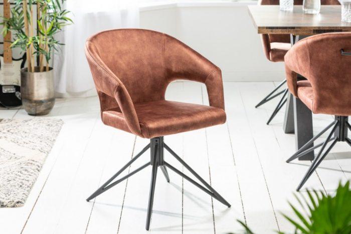 Krzesło ETERNITY obrotowe aksamit brąz