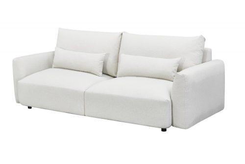 Nowoczesna sofa 3-osobowa HAMPTON 240cm szara 3-osobowa wraz z poduszkami