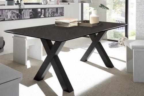 Industrialny stół do jadalni MONTREAL 160cm z czarnymi nogami X