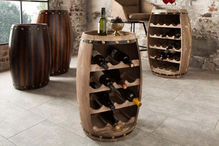Stojak na wino BODEGA 60 cm  Shabby