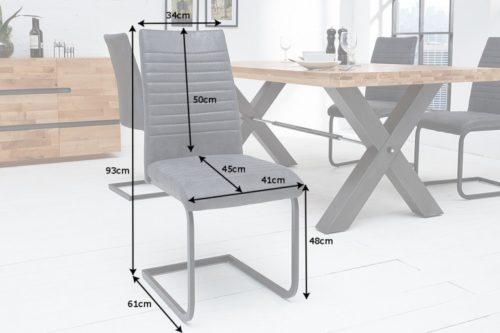 Krzesło APPARTMENT antyczna szarość