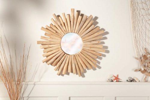 Lustro Riverside 60 cm drewniane