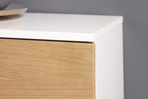 Komoda WILD OAK 180cm drewno dębowe biały mat
