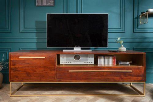 Komoda TV STRAIGHT 165cm drewno akacja