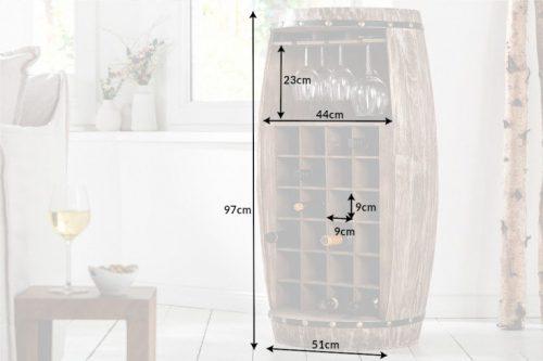 Elegancki stojak na wino BODEGA 97cm beczka drewno jodłowe