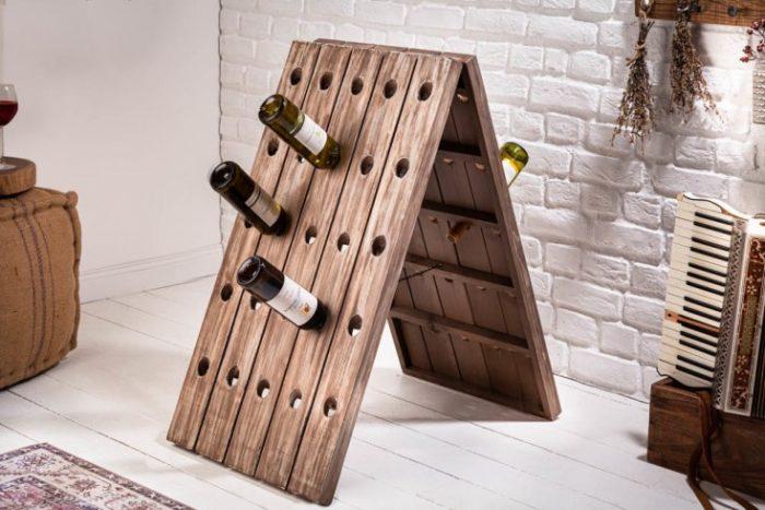 Stojak na wina  Shabby Chic 91cm 40417