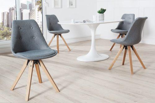 Krzesło Scandinavia  tapicerowane szare 36273