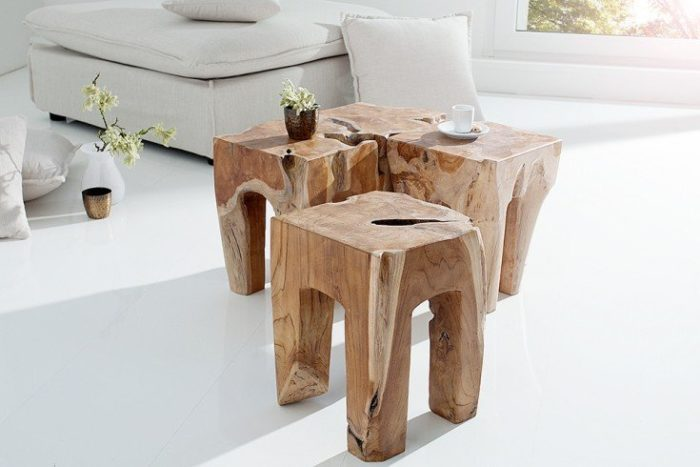 Stolik MOLAR 35cm drewno tekowe