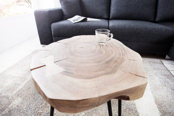 Stolik GOA 38cm z pnia akacji